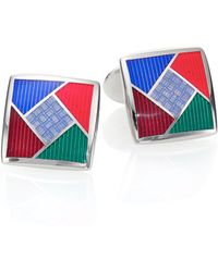 David Donahue - Multicolored Sterling Silver Cuff Links - Lyst