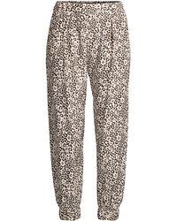 a7c4f6c6a2b1 ATM - Lunar Leopard Silk Sweatpants - Lyst