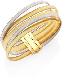 Marco Bicego - Masai 18k Yellow & White Gold Five-strand Bracelet - Lyst
