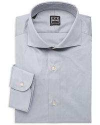 Ike Behar Frederick Contemporary-fit Cotton Dress Shirt - Metallic