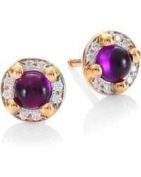Pomellato - M'ama Non M'ama 18k Rose Gold Amethyst & Diamond Earrings - Lyst