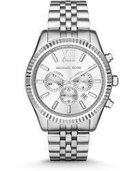 Michael Kors Men's Chronograph Lexington Stainless Steel Bracelet Watch 45mm Mk8405 - Metallic