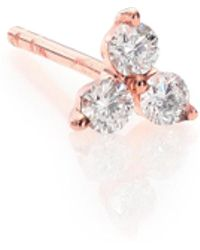 EF Collection - Diamond & 14k Rose Gold Single Stud Earring - Lyst
