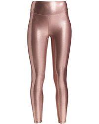 Heroine Sport Marvel High-waist Metallic Leggings - Pink