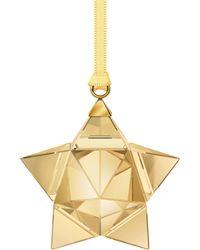 Swarovski - Goldtone Star Ornament - Lyst