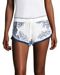 Poupette - Geometric Print Boxer Shorts - Lyst