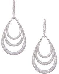 Adriana Orsini Crystal Drop Earrings - Metallic