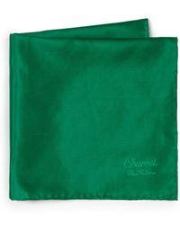 Charvet - Men's Solid Silk Pocket Square - White - Lyst