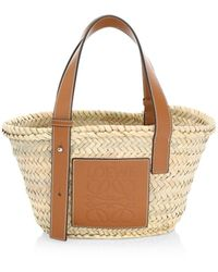 Loewe Small Leather-trimmed Basket Tote - Multicolor