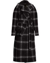 Stella McCartney Windowpane Wool Coat - Black