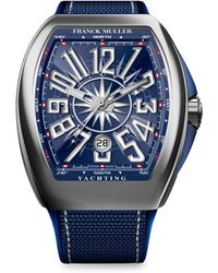 Franck Muller - Yachting Vanguard Stainless Steel & Rubber-strap Watch - Lyst