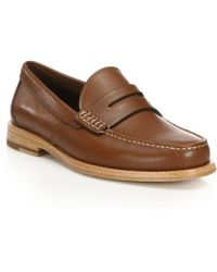 COACH - Manhattan Leather Penny Loafers - Lyst