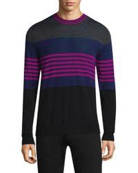 Paul Smith - Multi-stripe Crewneck Sweater - Lyst