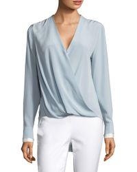 160e7e20b0c50 Rag   Bone Victor Stretch-silk Shirt in White - Lyst