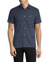 Lacoste - Regular-fit Short-sleeve Stripe Shirt - Lyst