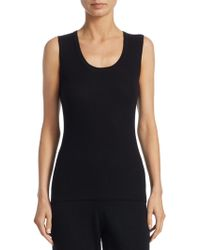 Saks Fifth Avenue - Collection Ribbed Scoopneck Tank Top - Lyst