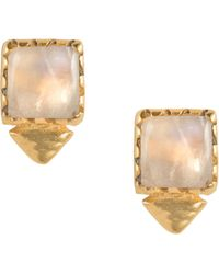 Shana Gulati - Tulum Oberon Stud M Moonstone Earrings - Lyst