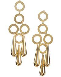 Cult Gaia Small Bibi Drop Earrings - Metallic