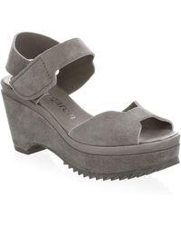 Pedro Garcia | Fah Leather Platform Wedge Sandals | Lyst