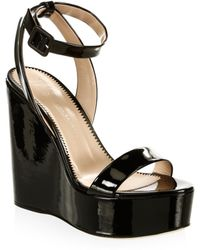 Giuseppe Zanotti - Gipsy Leather Platform Wedge Sandals - Lyst