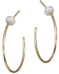 Phillips House - Affair Diamond Infinity Micro Disc Hoop Earrings/1.25 - Lyst