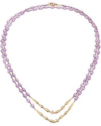 Etho Maria 18k Rose Gold & Amethyst Beaded Double-strand Long Necklace - Multicolour