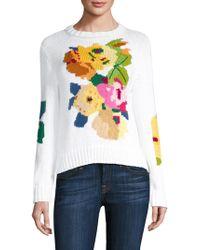 Smythe - Floral Crewneck Sweater - Lyst
