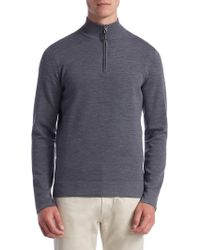Saks Fifth Avenue - Collection Tech Merino Wool Quarter-zip Sweater - Lyst