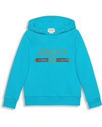 5092cc4c7cd Lyst - Gucci Little Boy s   Boy s Striped Sleeve Cotton Sweatshirt ...