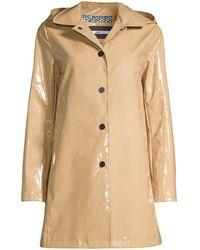 Jane Post High-shine Rain Slicker - Natural