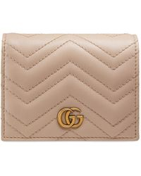 Gucci - GG Marmont Quilted Leather Flap Card Case - Lyst