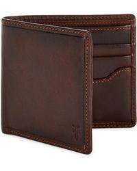Frye - Logan Leather Billfold Wallet - Lyst