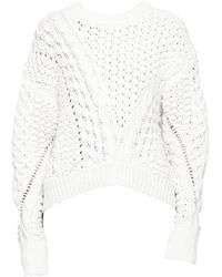 3.1 Phillip Lim - Cable-knit Crewneck Sweate - Lyst