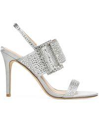 Via Spiga Macyn 2 Embellished Satin Slingback Sandals - Metallic