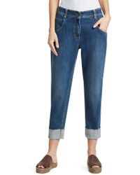 Brunello Cucinelli - Relax-fit Stretch Rolled Cuff Jeans - Lyst