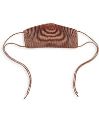 Significant Other Pleated Face Mask - Brown