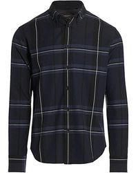 Rag & Bone Fit 2 Tomlin Plaid Flannel Shirt - Blue