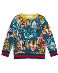 Gucci - Little Boy's & Boy's Caspian Cotton Sweatshirt - Lyst