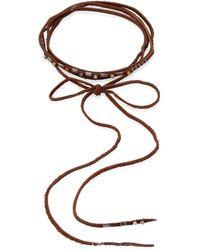 Chan Luu - Aqua Terra Leather Wrap Necklace - Lyst
