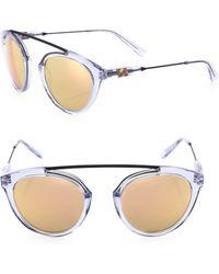 Westward Leaning - Flower 14 51mm Mirrored Aviator Sunglasses - Lyst