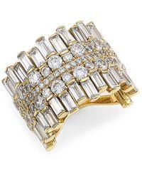 Adriana Orsini 18k Goldplated & Cubic Zirconia Cigar Band Ring - Metallic