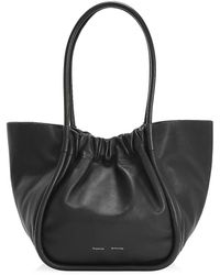 Proenza Schouler Ruched Leather Tote - Black