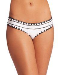 Same Swim - Women's The Everything Hand-sewn Bikini Bottom - White - Size Small - Lyst