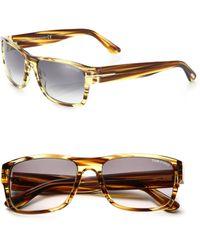 3fb7603d25c Tom Ford - Mason 58mm Rectangular Sunglasses - Lyst