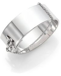 Eddie Borgo - Safety Chain Cuff Bracelet/silvertone - Lyst
