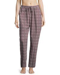 Hanro - Printed Cotton Long Pants - Lyst