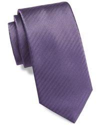 Brioni Silk Tie - Purple