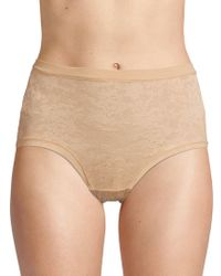 Le Mystere Lace Perfection Briefs - Natural