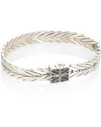 John Hardy - Modern Chain Black Sapphire & Sterling Silver Bracelet - Lyst