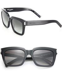 Saint Laurent - Bold 1 Thick Square Sunglasses - Lyst